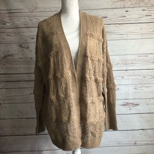 Knox Rose Ribbed Knit Sweater Cardigan Size XL